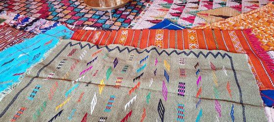 las alfombras en Marruecos